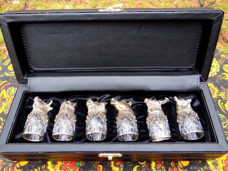 Gift set of wine glasses-turncoats, Dinnerware Sets, Pavlovo,  Фото №1