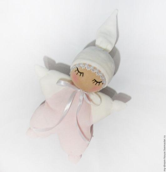 Вальдорфская игрушка ручной работы. Ярмарка Мастеров - ручная работа. Купить Вальдорфская кукла сплюшка-бабочка. Handmade. Бледно-розовый