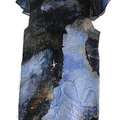 Одежда handmade. Livemaster - original item Batik Dress felted milky way. Handmade.