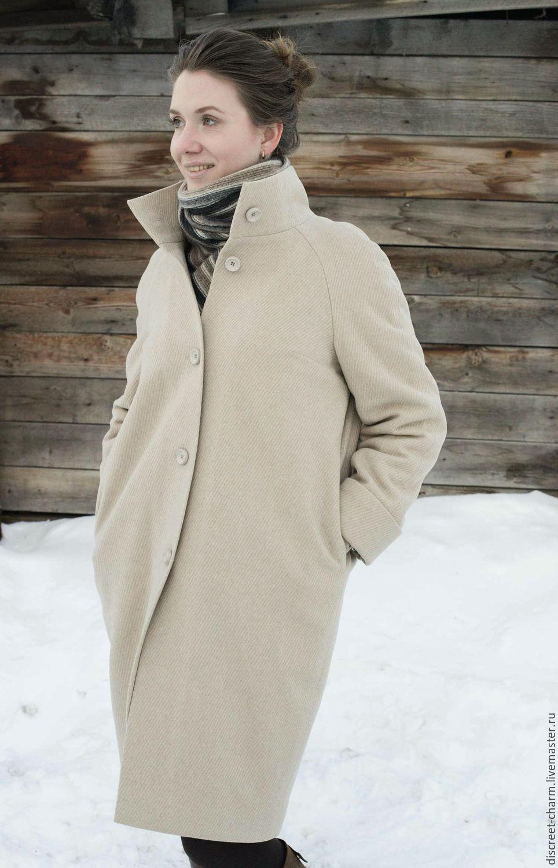 5e8d7765276 Верхняя одежда ручной работы. Ярмарка Мастеров - ручная работа. Купить  Светло-бежевое зимнее ...