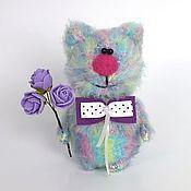 Куклы и игрушки ручной работы. Ярмарка Мастеров - ручная работа Кот Радужный (вязаный кот, игрушка, подарок). Handmade.