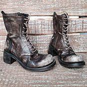 Обувь ручной работы. Ярмарка Мастеров - ручная работа Зимние кожаные ботинки JANVIER. Handmade.