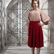 Платья ручной работы. Ярмарка Мастеров - ручная работа Шелковое платье Rosamel. Handmade.