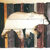 Картины и панно handmade. Livemaster - original item Bears boards painting panels. Handmade.