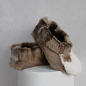 Обувь ручной работы handmade. Livemaster - original item Homemade slippers made of reindeer camus. Handmade.