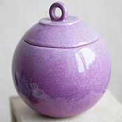 Посуда handmade. Livemaster - original item Box Jar for small things Lilac. Handmade.