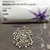 Материалы для творчества handmade. Livemaster - original item 10pcs Rhinestones in dac light colorado topaz ss16 4mm maxima chrome Bezels. Handmade.