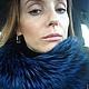 Воротнички ручной работы. Воротник снуд (хомут) из меха чернобурки синего цвета. Татьяна Гогошидзе (tf_fur). Ярмарка Мастеров.