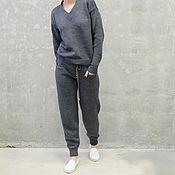 Одежда handmade. Livemaster - original item Bueno gray knitted suit. Handmade.