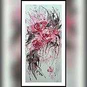 """Картины и панно ручной работы. Ярмарка Мастеров - ручная работа Картина на рисовой бумаге """" Экспрессия """". Handmade."""