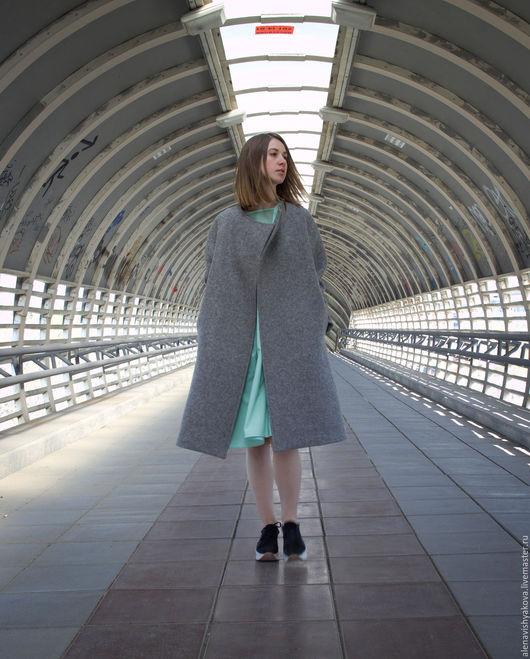 Верхняя одежда ручной работы. Ярмарка Мастеров - ручная работа. Купить Пальто из шерсти. Handmade. Серый, пальто на подкладе, handmade