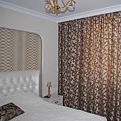 Для дома и интерьера ручной работы. Ярмарка Мастеров - ручная работа Шторы для спальни с растительным рисунком. Handmade.