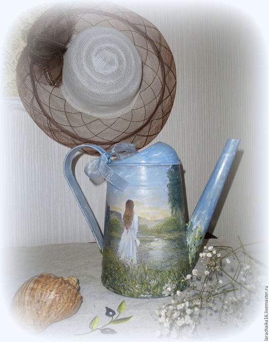 """Лейки ручной работы. Ярмарка Мастеров - ручная работа. Купить Лейка ваза для цветов металлическая """"Сольвейг"""". Handmade. Серый, трава"""