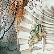 """Украшения ручной работы. Ярмарка Мастеров - ручная работа Серьги """"крылья бабочки боярышницы"""". Handmade."""