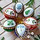 Christmas balls with hand embroidery, Christmas decorations, Vyborg,  Фото №1