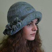 "Аксессуары handmade. Livemaster - original item ""Spring drops"" felted hat. Handmade."