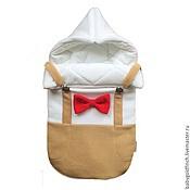 """Работы для детей, ручной работы. Ярмарка Мастеров - ручная работа Конверт для новорожденного на выписку и в коляску """"Маленький дэнди"""". Handmade."""