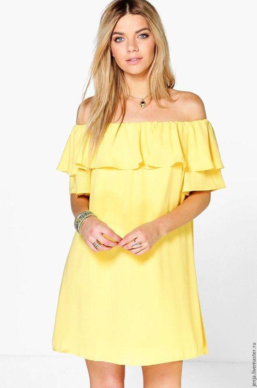 Платья ручной работы. Ярмарка Мастеров - ручная работа. Купить Summer in chiffon dress in yellow SALE. Handmade.