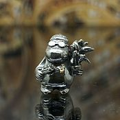 Материалы для творчества handmade. Livemaster - original item Leon moomintroll charm. Handmade.