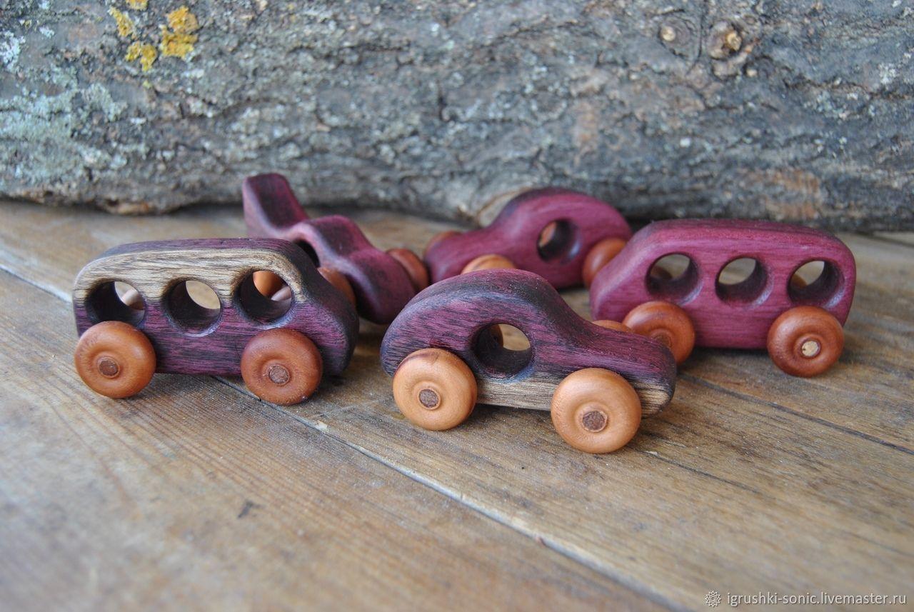 Маленькие деревянные машинки, Техника роботы транспорт, Киров,  Фото №1