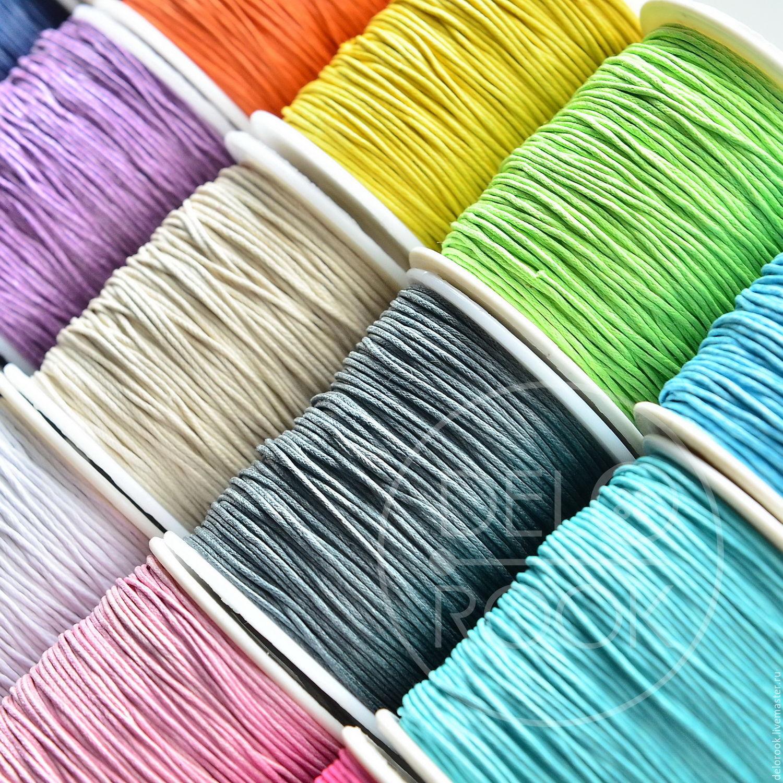 Для украшений ручной работы. Ярмарка Мастеров - ручная работа. Купить Вощёный шнур (17 цветов). Handmade. Шнур