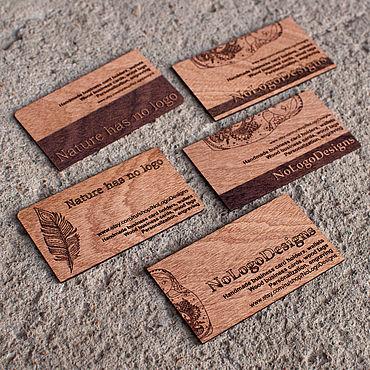 Дизайн и реклама ручной работы. Ярмарка Мастеров - ручная работа Эксклюзивные визитки из экзотических пород дерева. Сапеле. Handmade.