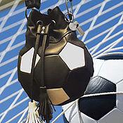 """Сумки и аксессуары ручной работы. Ярмарка Мастеров - ручная работа кожаная сумка """"мяч"""". Handmade."""