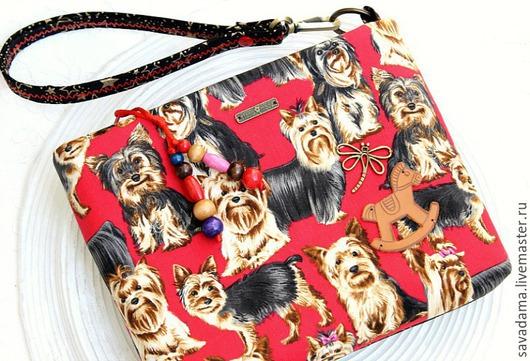 Сумки и аксессуары ручной работы. Ярмарка Мастеров - ручная работа. Купить Little&big )) КЛАТЧ сумка красный собаки звезды город купить. Handmade.