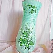 Для дома и интерьера ручной работы. Ярмарка Мастеров - ручная работа ваза декупаж средняя Лесные ландыши. Handmade.
