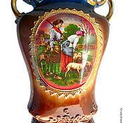Английская ваза-питчер с пастушками