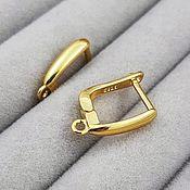 Материалы для творчества handmade. Livemaster - original item Earrings with lock 16 mm gold (3794). Handmade.