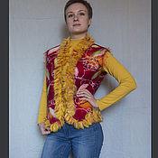 Одежда ручной работы. Ярмарка Мастеров - ручная работа Жилет валяный Красный 5. Handmade.