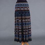 Одежда ручной работы. Ярмарка Мастеров - ручная работа Авторская вязаная жаккардовая юбка. Handmade.