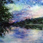 Картины и панно ручной работы. Ярмарка Мастеров - ручная работа Сохраняя тишину: закат. Handmade.