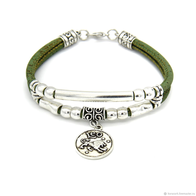 Eco bracelet lions Portuguese oak handmade B0118g/p2, Baseball caps handmade, Moscow, Фото №1
