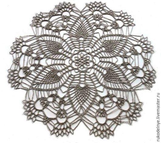 Текстиль, ковры ручной работы. Ярмарка Мастеров - ручная работа. Купить Декоративная салфетка Каменный цветок. Handmade. Серый, лен