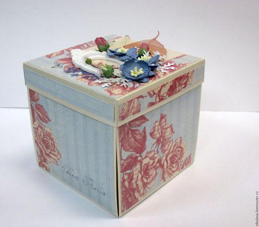 """Открытки на все случаи жизни ручной работы. Ярмарка Мастеров - ручная работа. Купить Magic Box, коробочка для фотографий, фотобокс в стиле """"Шебби Шик"""".. Handmade."""