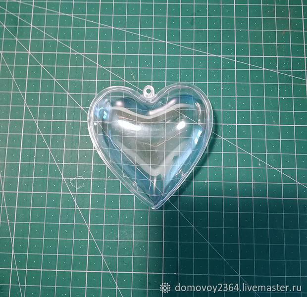 Заготовка сердце пластиковое 8 см, Заготовки для декупажа и росписи, Москва,  Фото №1