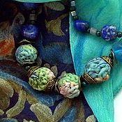 Бусы ручной работы. Ярмарка Мастеров - ручная работа Бусы: Бусы из шелка и стеклянных бусин. Handmade.
