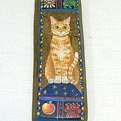 """Посуда ручной работы. Ярмарка Мастеров - ручная работа Рубель """"Котик рыжий"""" (старинный утюг, дерево). Handmade."""