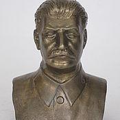 Сувениры и подарки handmade. Livemaster - original item Brass bust of Stalin I. V... Handmade.