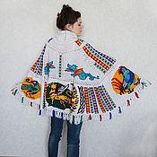 """Одежда ручной работы. Ярмарка Мастеров - ручная работа Пончо """"Mosaico Duomo Ravello"""". Handmade."""