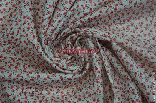Шитье ручной работы. Ярмарка Мастеров - ручная работа. Купить Ткань плат. хлопок мелкий цветочек, 120 см, розовый. Handmade.