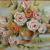 Картины и панно handmade. Livemaster - original item A bouquet with roses. Handmade.