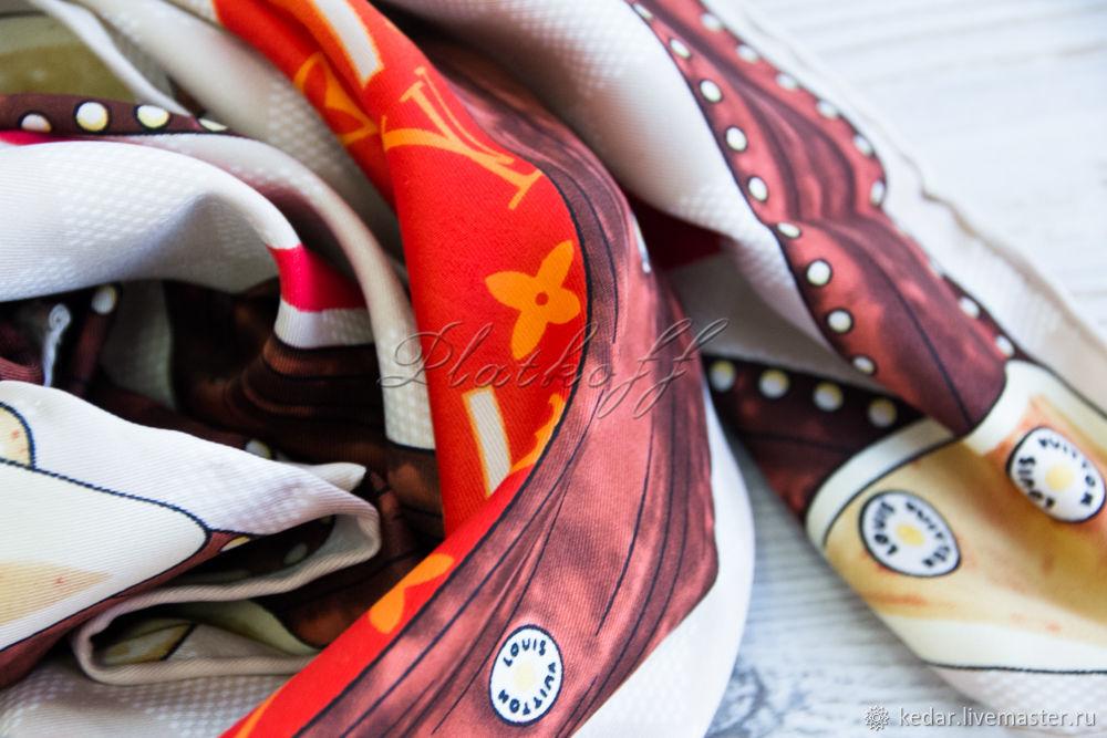 Silk neck scarf, Shawls1, Moscow,  Фото №1