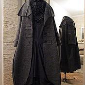 Пальто ручной работы. Ярмарка Мастеров - ручная работа пальто СЕРОЕ БОХО. Handmade.