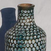 Для дома и интерьера ручной работы. Ярмарка Мастеров - ручная работа Фактурная бутылочка. Handmade.