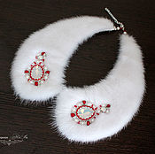 handmade. Livemaster - original item The collar made of mink fur, white collar, fur collar, necklace. Handmade.