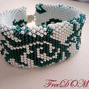 Украшения handmade. Livemaster - original item Beaded decoration. Bracelet emerald. Handmade.