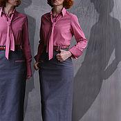 Одежда ручной работы. Ярмарка Мастеров - ручная работа Блузка с галстуком. Handmade.